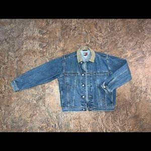 Vtg 90s Tommy Hilfiger denim trucker jean jacket